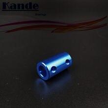 Rolamentos kande 1pc 5x5 5x8 8x8 acessórios de impressora 3d acoplamentos de alumínio navio modelo acoplamentos 5*5*8 8*8 acoplamentos azuis
