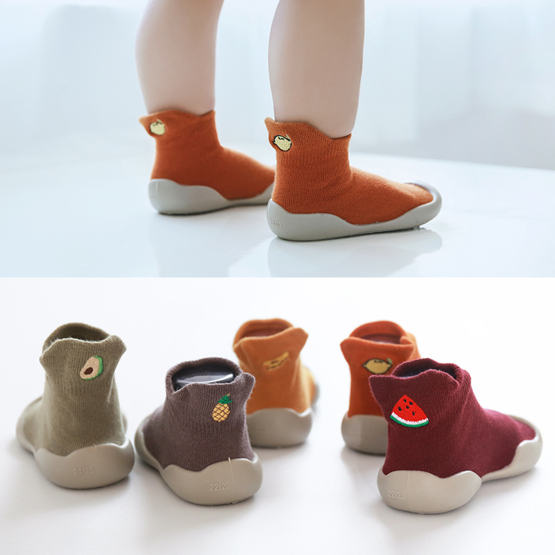 Baby boy shoes Baby sock shoes nonslip floor socks shoes baby girl soft rubber sole shoes baby toddler sock shoes baby booties image