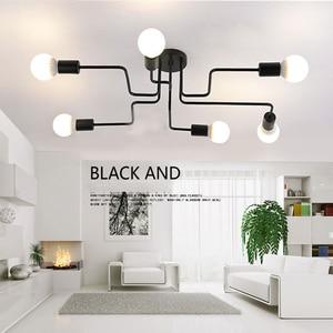 Image 3 - Потолочный светильник Luminaria, светодиодный потолочный светильник в винтажном стиле, освещение для дома в стиле лофт, лампы для гостиной