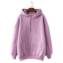 Women Fleece Hoodie Sweatshirts Winter Japanese Fashion Bts Ladies Pullovers Warm Pocket Oversize Hooded Jumpers
