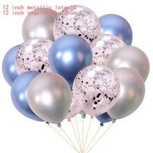 15 Pcs/lot 12 inch Mixed Gold Confetti Metallic Balloon Latex Balloons Wedding Birthday Party Decoration Flying Balloons Decor броши clip me flying balloons girl