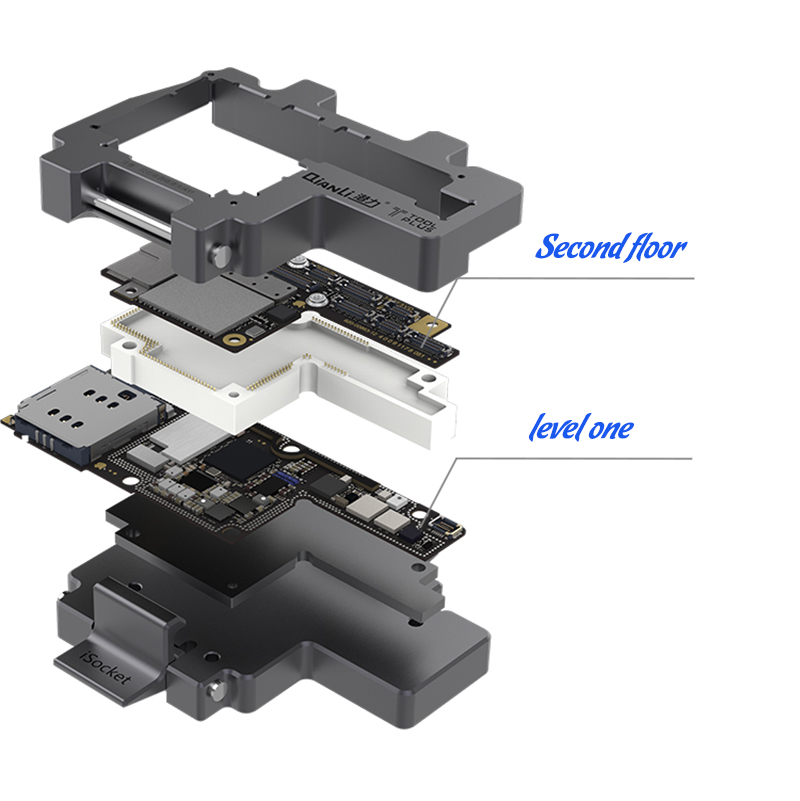 Купить с кэшбэком QIANLI iSocket mobile phone motherboard repair test fixture for two iphoneX simultaneous test repair test tool