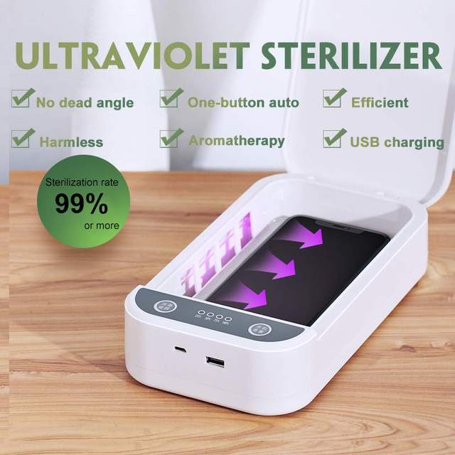 5V UV Mask Sterilizer Box Jewelry Phones Cleaner Personal Sterilizer Disinfection Cabinet with Aroma Esterilizador For Mask 2