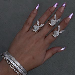 Micro pave 5A cubic zirconia cz open adjusted open finger ring cute lovely animal design women jewelry fashion