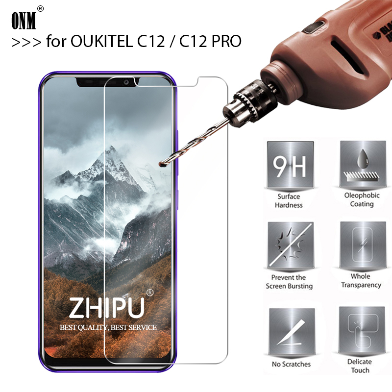 25 Pcs Tempered Glass For OUKITEL C12 Screen Protector 2.5D 9H Premium PRO Protective Film