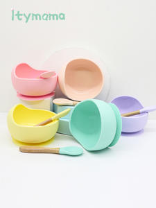 Top Tableware Dining-Plate Platos Children's Dishes Dinner-Bowl Feeding Baby Silicone