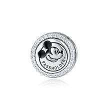 Fits Pandora Bracelet Beads for Jewelry Making 925 Sterling Silver Bead Fantasyland Pass Holder Charm Women Gift Kralen цена