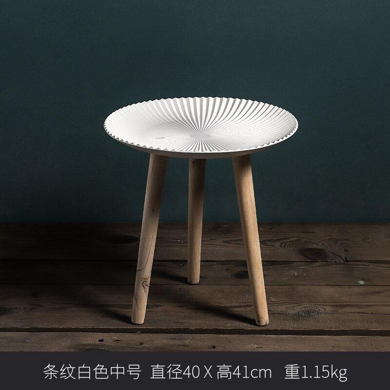 Луи Мода журнальные столы простой круглый маленькая полка для чая творческий дом гостиная спальня уголок - Цвет: S7