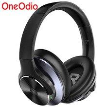Oneodio original a10 avançado cancelamento de ruído ativo fones de ouvido bluetooth com super graves profundos carga rápida 40h playtime