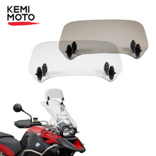Universal Motorcycle Windscreen Windshied For Honda Africa Twin CTX700 KLR-650 For CanAm Spyder F3-S F3T For Versys 650 dl650a(China)