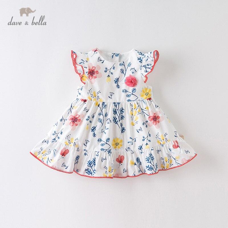 Платье детское летнее с цветочным принтом и аппликацией, DBA12555|Платья| | АлиЭкспресс