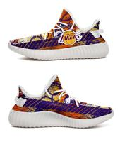 2019 yeezys Boost 350 V2 custom clippers Lakers Los Angeles fans sport air Running shoes Women Ladies Sneakers