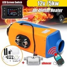 12V 5KW Car Diesel Air Parking Heater Car Heater LCD Monitor Switch + Silencer for Trucks Bus RV Trailer Boat Winter Warm Heater