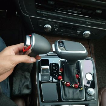 Automatic Car Gearbox Handles Gear Shift Knob Lever Stick Head for Audi A4 A5 A6 A7 for Q5 Q7 for S5 S6 Leather Car Handles for audi a4 a5 q5 a6 s6 a7 s7 q7 carbon fiber gear shift knob cover 2013 2014 2015 2016 2017