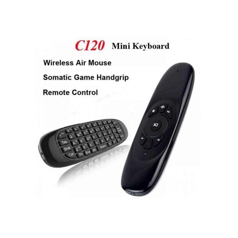 Télécommande Rechargeable professionnelle du clavier 2.4G de boîte de TV de souris d'air de mouche de Gyroscope professionnel pour Android Linux Windows Mac