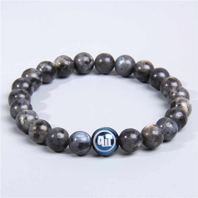Bracelet en feldspath labrador spécial naturel pour femmes et hommes bracelet en perles de pierre constellation douze bracelet à breloques bélier Taurus