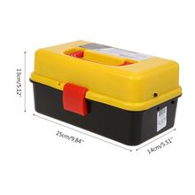 Case Toolbox Storage-Box Folding-Tool H8WE 3-Layer Hardware Car-Repair-Container Multifunction