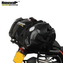 Rhinowalk 2021 popularne motocyklowe torby o dużej pojemności wodoodporna ogon czarny torba montowana z tyłu siedzenia bagażu sportowe tanie tanio CN (pochodzenie) 60cm 500D PVC Twill Fabric Torby na tylne siedzenie 1 8kg Single shoulder bag 32cm MT20650