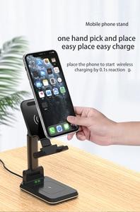 Image 4 - Station de charge rapide sans fil 2 en 1 pour téléphone, pour iphone 11 Pro Max XS X10W Qi Samsung S20 S10 Note 9 8 7 6