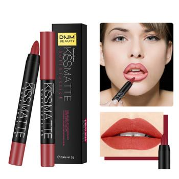 19-color Waterproof Lipstick Pen Can Rotate Velvet Matte Anti-sweat Lip Gloss Non-stick Cup Lasting Moisturizing Lip Glaze