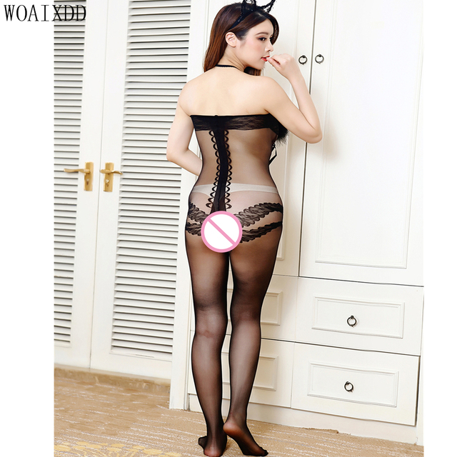 Open Croth Bodystocking 1