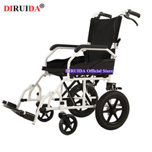 Original New Style Elderly People Disabled Wheelchair Portable Solid Wheel Folding Wheelchair Manual Brake For Foot Leg Disabled(China)