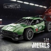 RC Metal araba 1/24 RC Drift araba yarışı 2.4G Off Road radyo uzaktan kumanda araç elektronik Remo hobi oyuncaklar