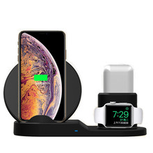 цена на 3 in 1 Wireless Charger Station for Apple watch 2 3 4 iphone Qi Wireless Charger for Apple AirPods Wireless Charger Dock Station