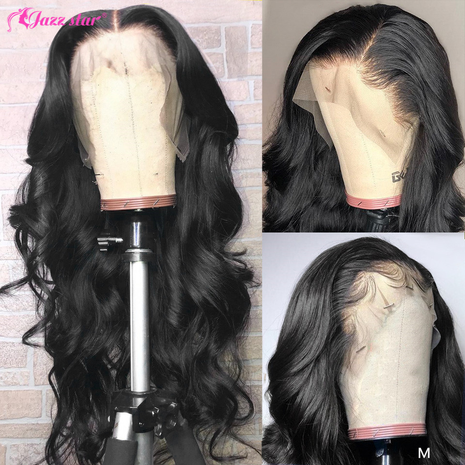 Brazilian Body Wave Wig 360 Lace Frontal Wig Pre Plucked with Baby Hair 100% Human Hair Wigs Non-Remy Jazz Star Hair Lace Wig