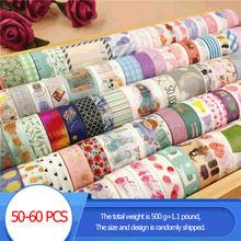 500g = 1.1 Pound Wholesale Washi Tapes Set 50-60 PCS Kawaii Masking Tapes Scotch decorative Stationery