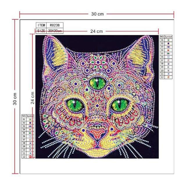 5D DIY Full Drill Diamond Painting Cleaning Face Cross Stitch Embroidery N#S7