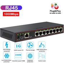 8-Port 100 1000M Gigabit Switch RJ45 Desktop VLAN Network Switch Ethernet Fast 1G MINI gigabit ethernet switch extend Lan Hub cheap KOQIT CN(Origin) Fast Switch Full-Duplex Half-Duplex POE Gigabit Switch