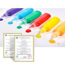 P15C 12 Colors Kids DIY Drawing Toys Cartoon Glue Tempera Painting Kindergarten Educational Art Craft Children Gift