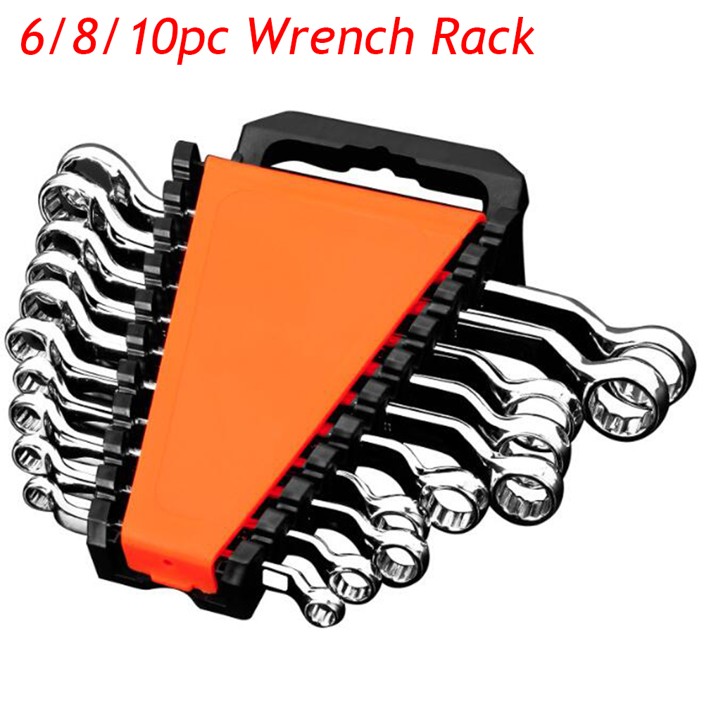 6/8/10/ Slot Wrench Rack Plastic Clip Holder Spanner Wrench Organizer Storage Tool Garage Repair Bicycle/Car Hand Tools Keeper