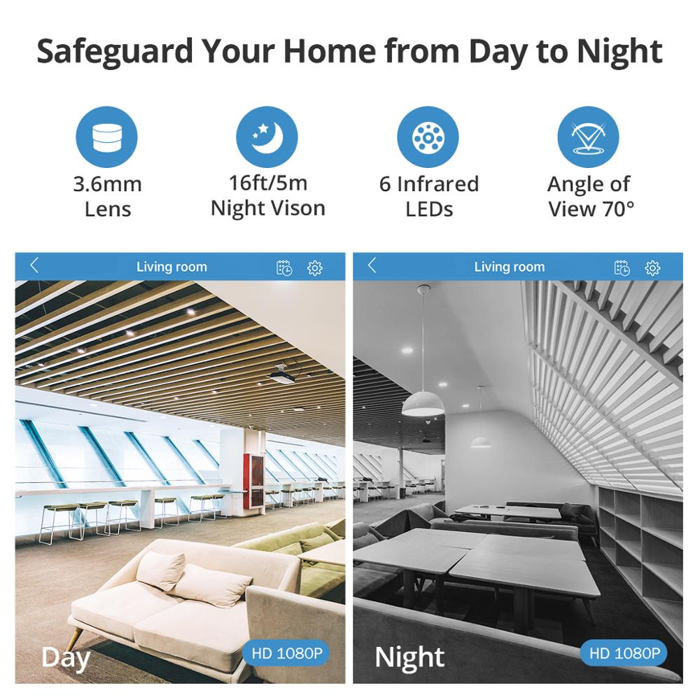 Image 5 - SANNCE Home Security IP Camera Wi Fi Wireless Mini Network Camera Surveillance Wifi 1080P Night Vision CCTV Camera Baby Monitor-in Surveillance Cameras from Security & Protection