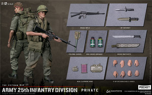 Image 5 - Damtoys Dam 1/12 PES004 Ons Leger Soldaat In Vietnam 25th Infantry Division Private Military Action Figure Collection