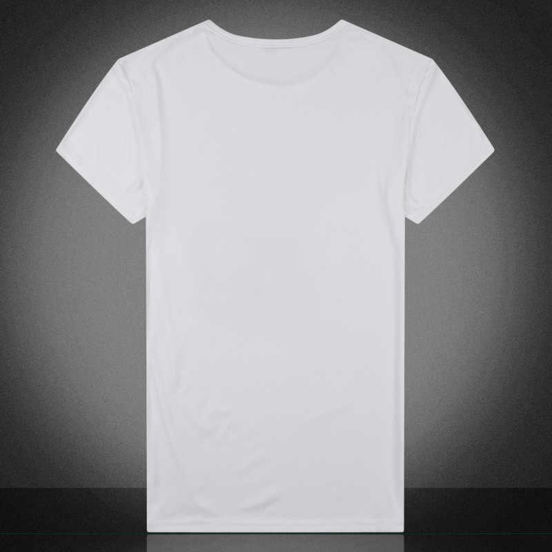 גברים של אופנה אופנתי חמישה כוכבים חלב סיב חולצה זכר קיץ קצר שרוול זכר O-צוואר טי חולצות