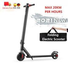 Trottinette électrique pliable légère à deux roues pour enfants, 6.5 pouces, batterie au Lithium, avec roue auxiliaire