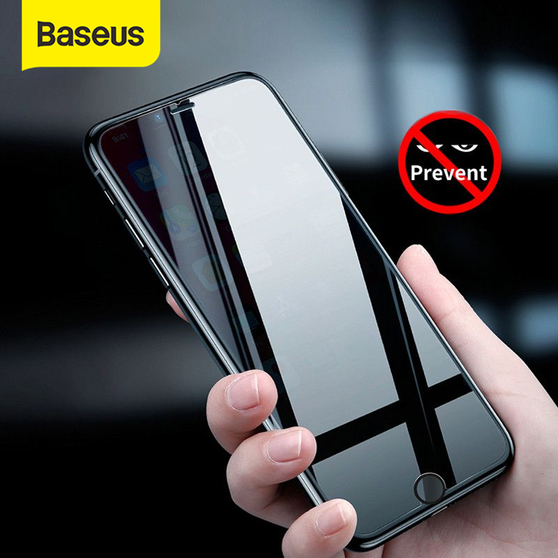 Baseus 0.3mm Anti Privacy Screen Tempered Glass for iPhone 8 7 Plus 3D Safety Protective Tempered Glass for iPhone 7 8 Glass|Phone Screen Protectors| |  - title=