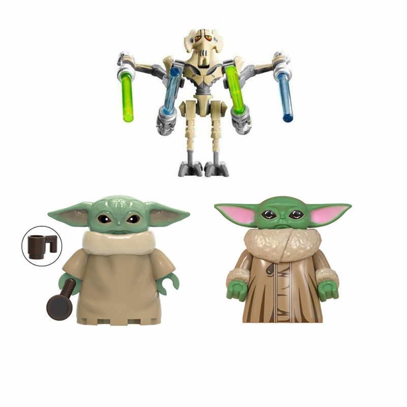 واحد بيع حرب النجوم الطفل يودا قائد ولفي اللبنات الشكل الطوب لعب الاطفال الهدايا