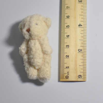 2/4 Pcs Mini Bersama Beruang Boneka Mewah Mainan 6.5 Cm Putih Lucu Boneka Beruang Liontin Boneka Hadiah Ulang Tahun dekorasi Pesta Pernikahan