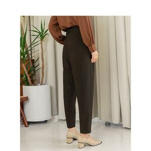 Image 2 - INMAN 2020ใหม่วรรณกรรมRetroสไตล์สูงเอวหลวมแครอทสไตล์ผู้หญิงสวมใส่ผู้หญิงCausalกางเกง