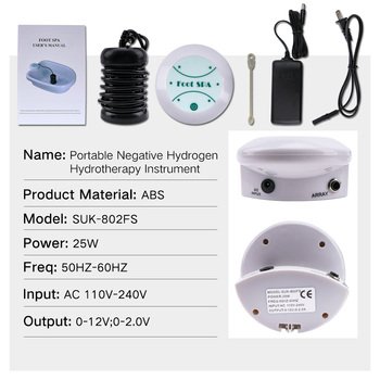 Foot bath spa ionic detox massage machine aqua cell