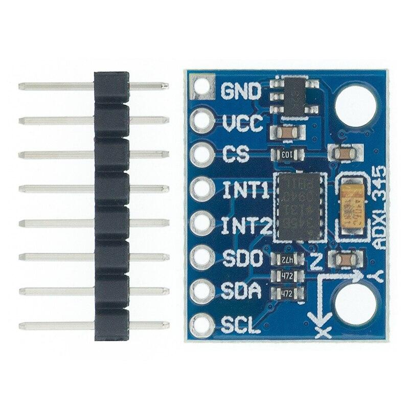I43 1 pçs GY 291 adxl345 digital aceleração de três eixos de inclinação de gravidade módulo iic/spi transmissão em estoque|Circuitos integrados|   -