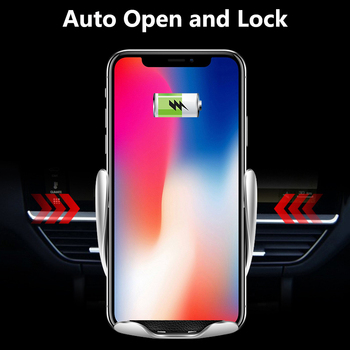 Wireless Car Charger for iPhone Samsung Huawei Smart Auto Clamp 10W Qi Fast Charging Car Mount Wireless Phone Charger Holder 10W 3