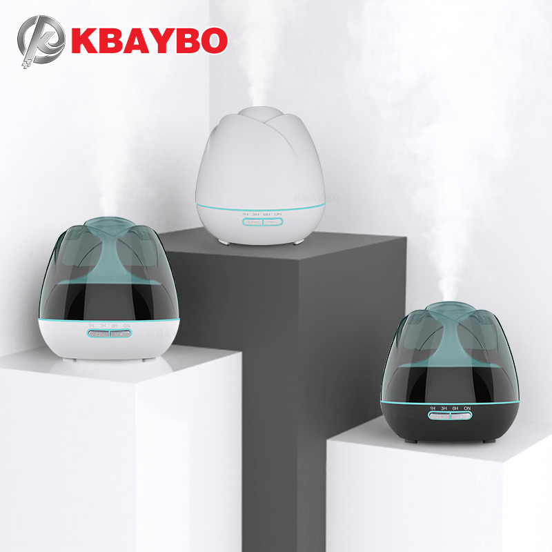 KBAYBO 400ml Air Diffuser Ultrasonic Air Purifier Aromatherapy Essential Air Humidifier With 7 Colors Of LED Lights For Home