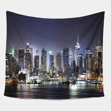 City Skyline Tapestry Wall Hanging Tapestry