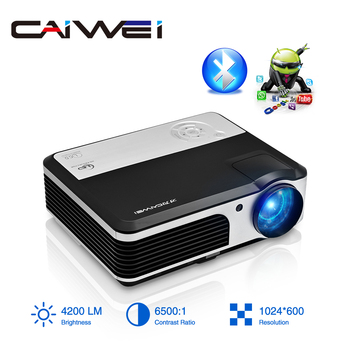 A5AB Smart Android 6.0 Bluetooth WIFI LCD Projector Home Theater Mobile FullHD Video Projector For Smartphone TV Laptops Beamer