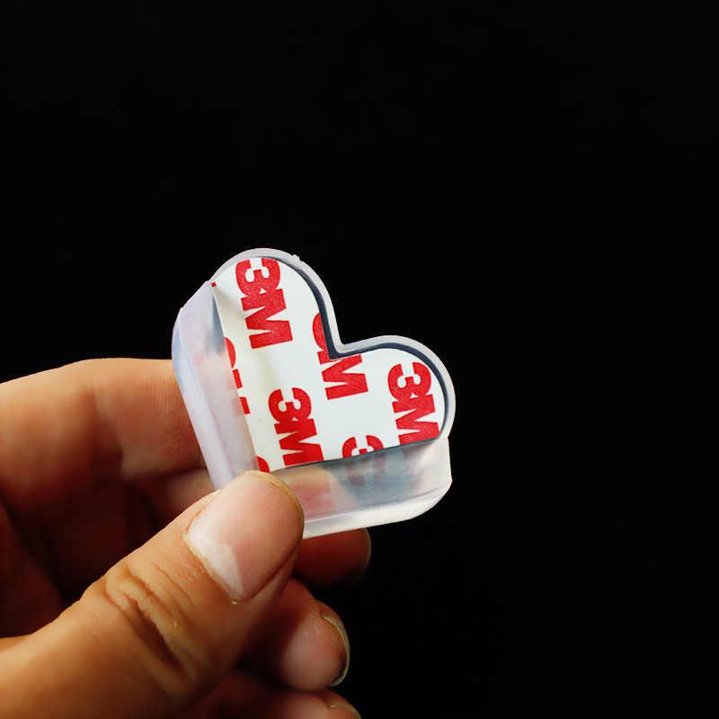 1 قطعة المحبة القلب الطفل الطفل سلامة سيليكون حامي الجدول ركن حافة غطاء للحماية الأطفال Anticollision حافة و الحرس