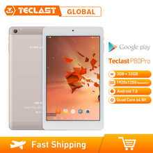 Teclast P80 Pro 3GB di RAM 32GB di ROM 8 pollici Android 7.0 MTK8163 Quad Core da 1.3GHz Tablet PC dual WiFi Dual Camera 1920*1200 GPS